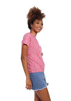 Printed Short Sleeve Top by Glamour Studio