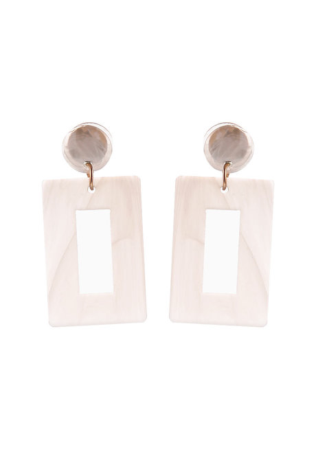 Tasha (Rectangular Acrylic Drop Earrings) by Kera & Co