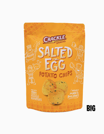Salted Egg Potato Chips (170g) by Crackle Snacks