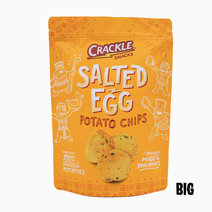 Salted Egg Potato Chips - Big (170g) by Crackle Snacks