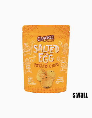 Salted Egg Potato Chips (70g) by Crackle Snacks