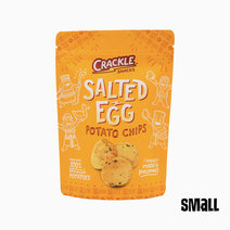 Salted Egg Potato Chips - Small (70g) by Crackle Snacks