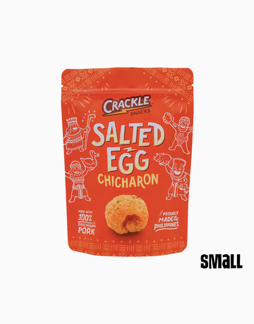Salted Egg Chicharon (50g) by Crackle Snacks