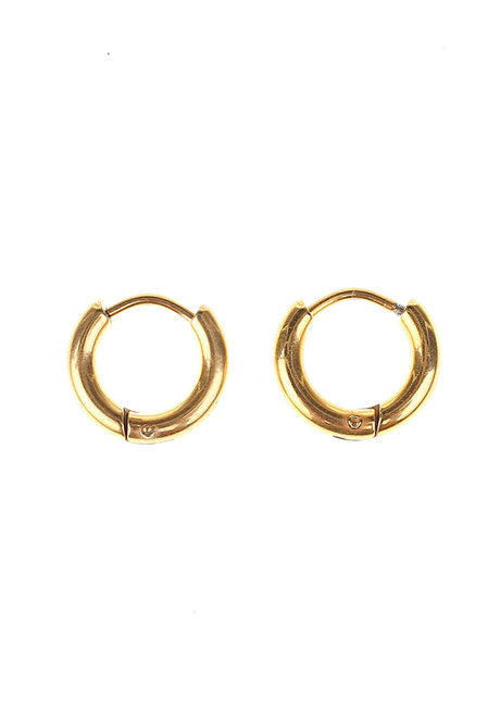 Martha 1.25cm Hoop Earrings  by Dusty Cloud
