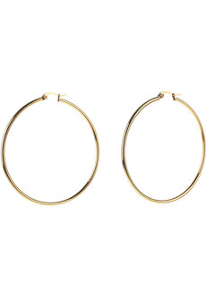 Willow 6cm Hoop Earrings by Dusty Cloud