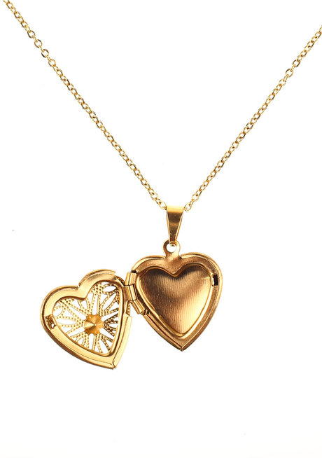 Billie Heart Locket Necklace by Dusty Cloud