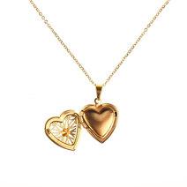 Billie Heart Locket Necklace by Dusty Cloud