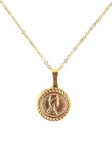 Elise Medallion Necklace by Dusty Cloud