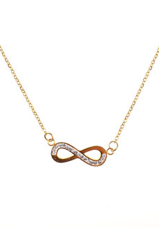 Tin Infinity Necklace by Dusty Cloud