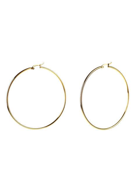 Harlow 7cm Hoop Earrings by Dusty Cloud