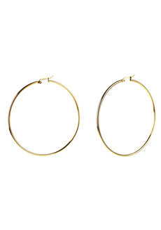 Harlow 7cm Hoop Earrings by Dusty Cloud