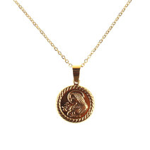 Gillies Mary Medallion Necklace by Dusty Cloud
