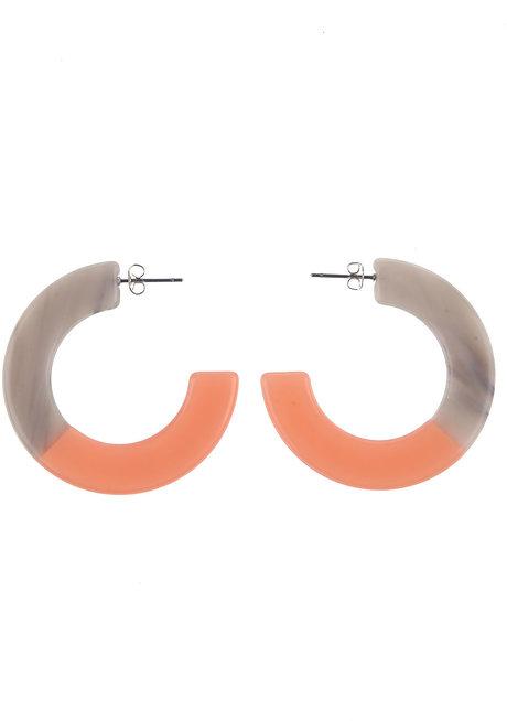 Bonnie (Two-toned Acrylic Hoop Earrings) by Kera & Co