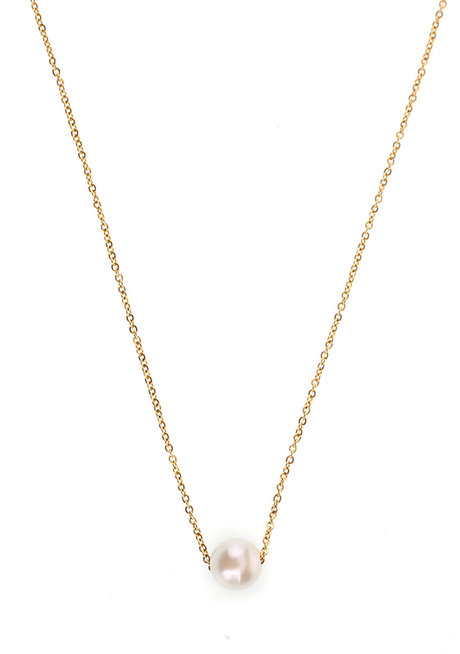 Margaux Solitaire Pearl Necklace by EI Project