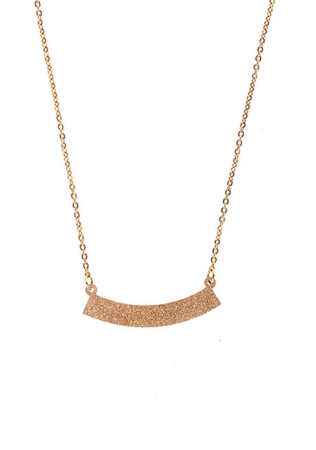 Mia Minimalist Curved Bar Necklace by EI Project