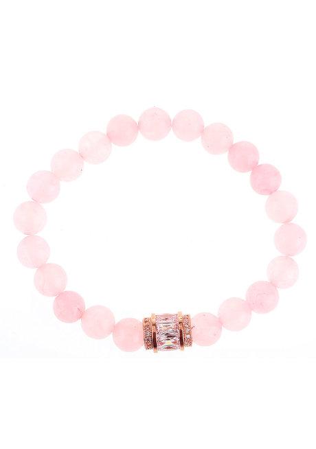 Beatrice Rose Quartz Charm Bracelet by EI Project