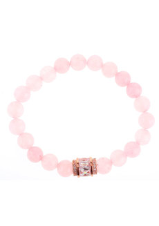 Beatrice Rose Quartz Charm Bracelet by EI Project