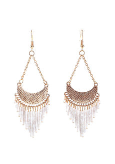 Cyrene Beaded Dangling Earrings by EI Project