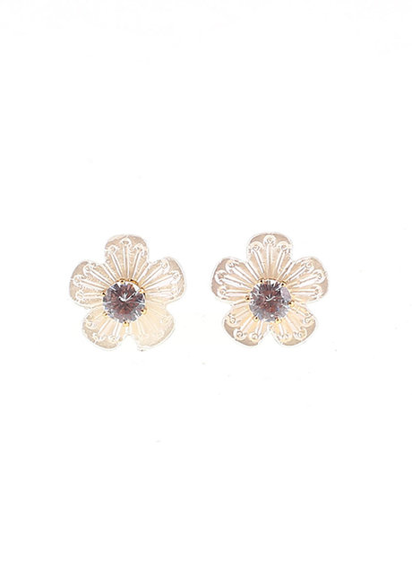 Convertible Anemone/Crystal Stud 2-in-1 Earrings by EI Project