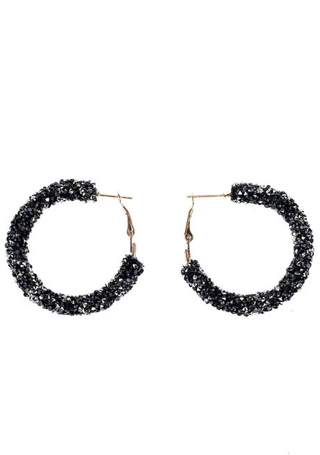 Paris Glitter Hoop Earrings by Loukha
