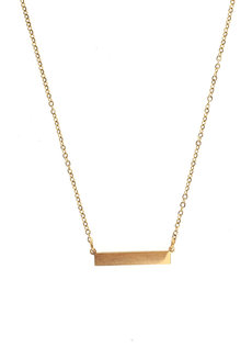 Gold Bar Gold Necklace by Adorn by MV