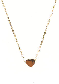 Full Heart Gold Necklace by Adorn by MV