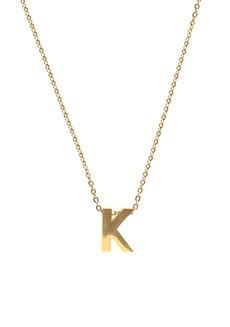 Letter K Gold Necklace by Adorn by MV