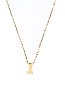 Letter I Gold Necklace by Adorn by MV