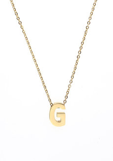 Letter G Gold Necklace by Adorn by MV