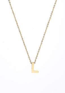 Letter L Gold Necklace by Adorn by MV