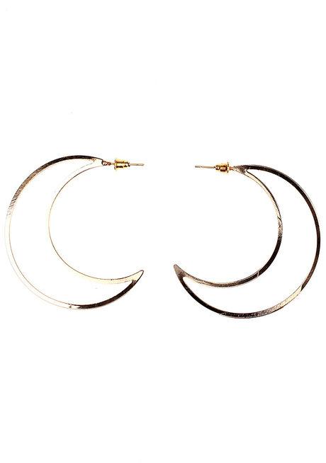 Burnt Sienna Moon Stud Earrings by Moxie PH