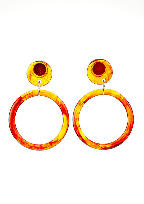 Fawn Acrylic Stud Earrings by Moxie PH
