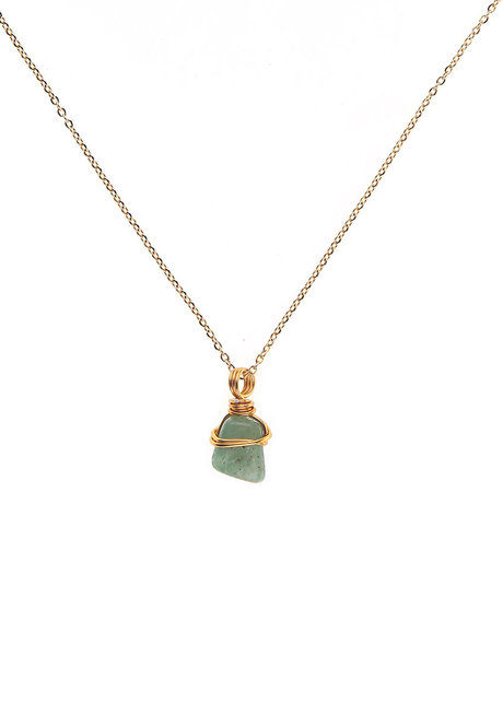 Aventurine Gemstone Necklace by Made By KCA