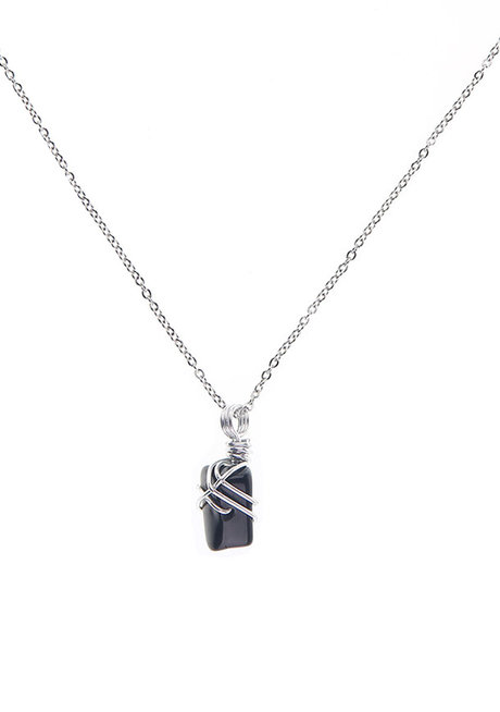 Onyx Gemstone Necklace by Made By KCA
