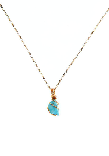 Turquoise Gemstone Necklace by Made By KCA