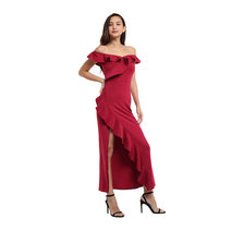 Beverly Off Shoulder Ruffle Maxi Dress by Frassino Collezione