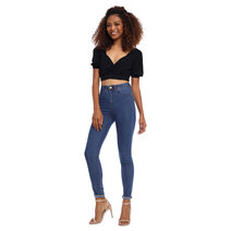 Kiara Cropped Top with Puffed Sleeves by Morning Clothing