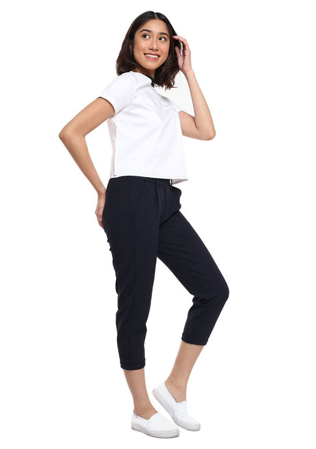 Plain Top with Welt Pocket and Contrast Neck Ribbing by Glamour Studio