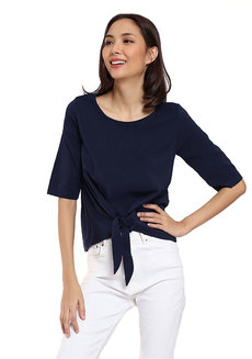 Quarter Sleeve Tie Knot Top by Glamour Studio
