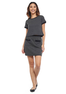 Textured Knit Mini Skirt by Glamour Studio