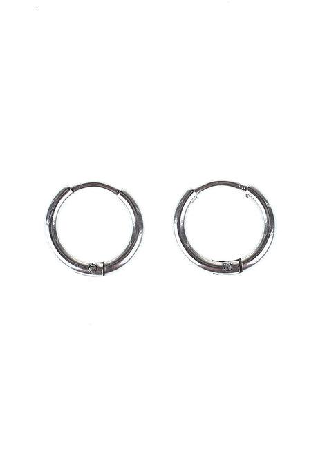 Karlie 1.25cm Hoop Earrings by Dusty Cloud