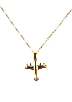 Bowie Airplane Necklace by Dusty Cloud