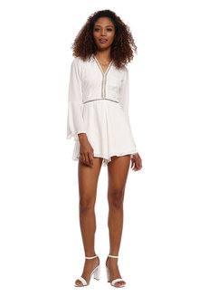 Bell Sleeve Romper by Tansshop