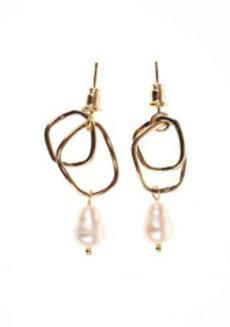 Talia (Pearl Drop Earrings) by Kera & Co