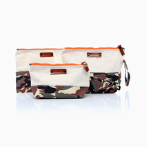 Camo Pouch Set (Set of 3) by Coco & Tres