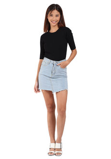 Asymmetrical Denim Skirt by Mantou Clothing