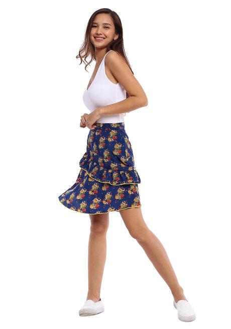 Pilar Ruffled Skirt by Chelsea