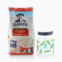 Instant Oats (400g) + Free Microwavable Jar by Quaker