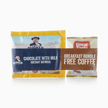 Instant Oats Banana & Honey (33g) + Coffee Bundle by Quaker