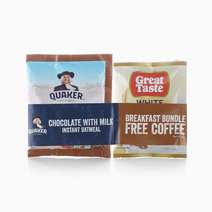 Instant Oats Chocolate With Milk (40g) + Coffee Bundle by Quaker